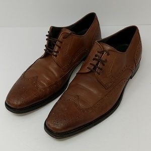 Hugo Boss Brown Leather Shoes Size 9.5